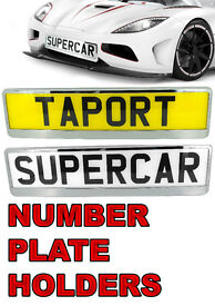 CAR NUMBER PLATE HOLDRER for SALE- WILL FIT ANY CAR - MANY COLORS IN STOCK - TAPORT - CAR PART