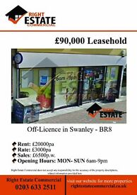 OFF LICENCE LEASE FOR SALE - SWANLEY