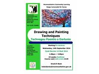 Drawing & Painting Techniques Art Class starting at Monmouth Community Hub this September 2016