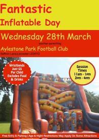 Inflatable bouncy castle day Saffron Lane