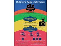 Children's party entertainer and disco DJ