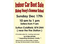 Indoor Car Boot Sale Sell or visit at our popular event on Sunday
