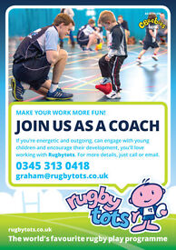 Lead & Assistant Coaches Wanted for Rugbytots Midlothian