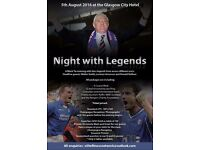 Rangers legends night: Glasgow City Hotel August 5th