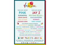 V Festival Weekend Ticket Inc. Camping -Weston Park (Bargain price & genuine)!