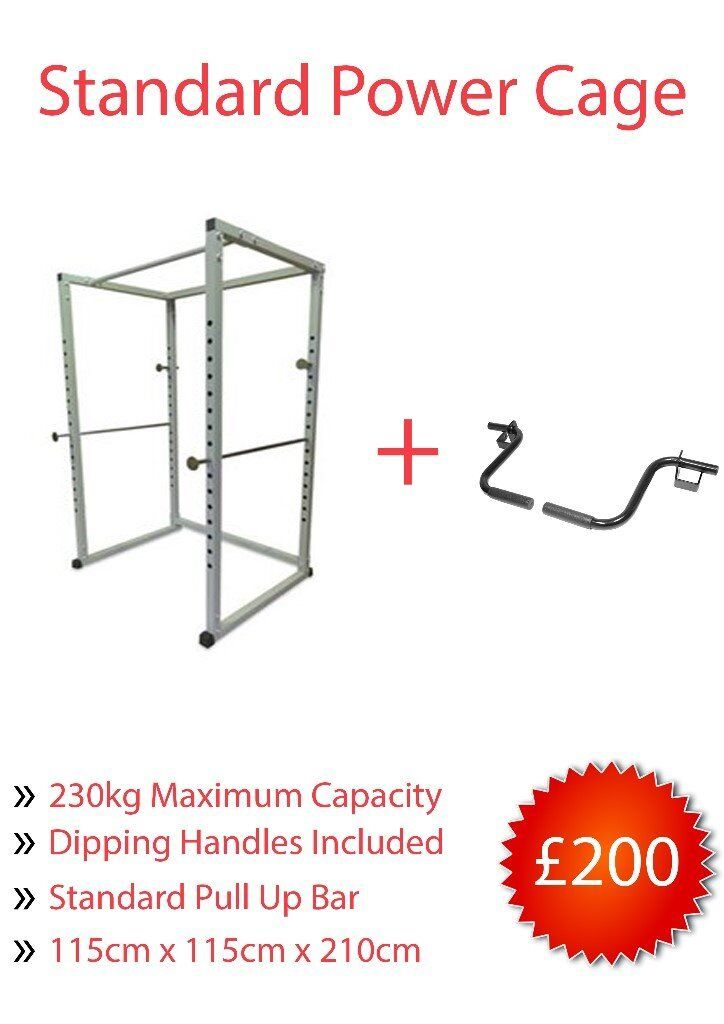 Brand New Power Cage Squat RackWIth Dipping HandlesPull Up BarWeights Gymin Dromore, County DownGumtree - Brand New Boxed 230KG Max Load Includes Dipping Handles & Pull Up Bar Loads of New & Used Gym Equipment! See other ads!