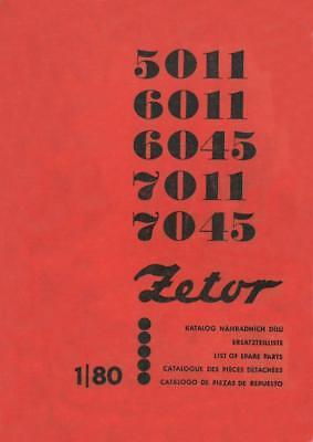 Ersatzteilkatalog Zetor 5011, 6011, 6045, 7011, 7045 Ersatzteilliste Traktor na sprzedaż  Wysyłka do Poland
