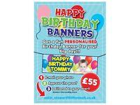 Happy Birthday & Celebration Banners