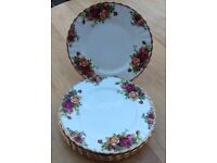 Royal Albert Old Country Roses Fruit plates