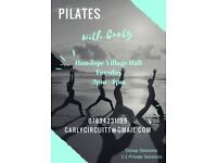 Pilates Classes Tuesday 3pm Hanslope Village Hall
