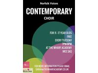 Contemporary Choir for children aged 11 to 17