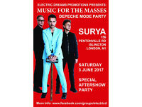 Music for the Masses (Depeche Mode Aftershow Party) @ Surya