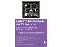 Ladies Night Out - Pamper and Beauty event for Meningitis Research Foundation, hosted by Rituals!!!