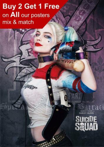 Harley Quinn Suicide Squad Movie Poster A5 A4 A3 A2 A1