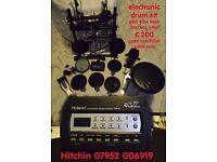 electronic drums roland td3 plus 60w bass practice amp - £200 - quick sale