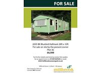 Pre-owned static caravan for sale on site