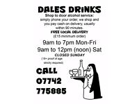 Dales Drinks Service,Shop to Door Alcohol Service.