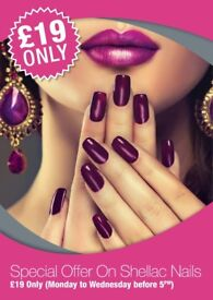 £19 Shellac Offer or 30% Off Gel Nail Extensions & Classic Manicure & Pedicures in London Victoria