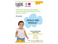 Free Wiggle and Jiggle Group for children from 0-4 years