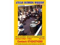 African drumming Nottingham/Mind/body/soul