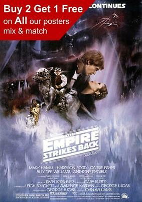Star Wars Episode V The Empire Strikes Back Movie Poster A5 A4 A3 A2 A1