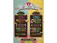 Love saves the day Sunday ticket