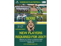 Nottingham Bears American Flag Football CLub - New Players Wanted