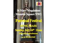 Feast of St Mary Magdalene celebrations