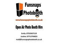 Open Air photo booth hire