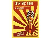 'OPEN MIC NIGHT IN THE HEART OF CAMDEN @ BAR BOHO EVERY WEDNESDAY!