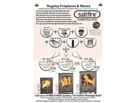 Unbeatable Saltfire ST-X4 woodburner / ST-X5 Multi Fuel Stove & flue package. Eco Design ready