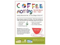 Coffee Morning 9am-12noon (cake sale, toys & books, bake off competition, tombola & raffle)
