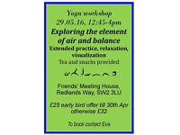 Yoga Workshop on Bank Holiday Monday, Brixton