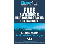Doorsec-Free Training & help towards your SIA Badge
