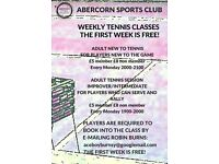 1st week is free! Adult tennis classes at Abercorn Sports Club Abercorn Cres Edinburgh EH8 7HZ