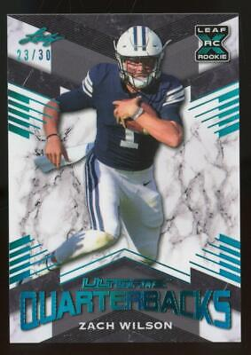 2021 Leaf Ultimate Quarterbacks Light Blue XRC Zach Wilson /30 RC Rookie