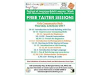 FREE Taster Sessions at the Usk Community Hub on 22nd June 2017