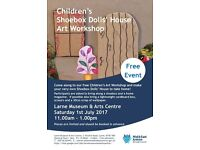 Workshop to make a dolls house from a shoebox, kids