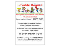 Lovable Rogues - Registered & Experienced Childminder - Broxburn/Uphall.