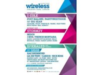 2x Sunday Wireless Festival Tickets 8th July 2018