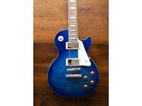 Epiphone Les Paul Standard Pro Electric Guitar - Translucent blue (superb condition)
