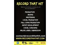 Music Producer, recording, mixing and mastering, major label credits, all genres