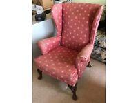 Gorgeous vintage parker knoll wingback chair