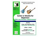 Guitar or Ukulele class starting at Monmouth Community Hub this September 2016
