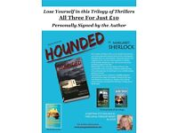 Trilogies Of Psychological Thrillers By Torquay Author, Margaret Sherlock, Personally Signed Copies