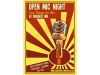 HIGHGATE INN OPEN MIC THIS THURSDAY!