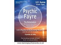 Psychic Fayre at The Nickelodeon Wednesfield on 12 June