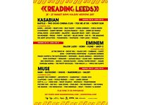 Two Leeds Festival Tickets (Weekend with Camping)