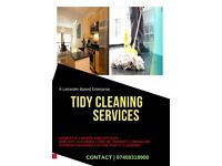 TIDY CLEANING SERVICES. (Domestic & Commercial Cleaning)...Professional, reliable and affordable.