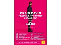 6 x CRAIG DAVID Standing Tickets for Newcastle Metro Arena Wednesday March 29th **FACE VALUE**